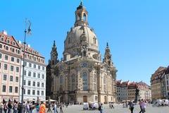 Церковь нашей дамы Frauenkirche, Дрездена Стоковая Фотография