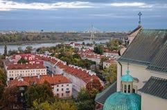 Церковь на городке Варшавы старом стоковые изображения