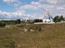 Церковь на кусте холма горящем Стоковые Фото