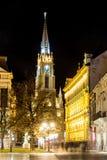 Церковь на ноче в Novi унылом Стоковая Фотография RF