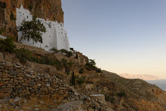 Церковь на острове Amorgos стоковая фотография rf