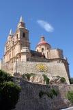 Церковь на холме в Melieha в Мальте Стоковое фото RF