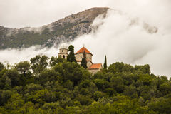 Церковь на холме Черногория Стоковая Фотография RF