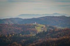 Церковь на холме стоковое изображение