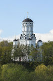 Церковь обезглавливания Иоанна Крестителя в Dyakovo, Москве, Российской Федерации Стоковое Фото