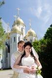 церковь около портрета Стоковые Фото