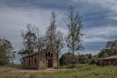 Церковь около malanje, Анголы, Африки, португальской колониальной церков времени стоковое фото