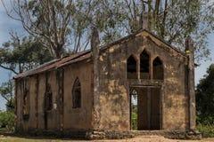 Церковь около malanje, Анголы, Африки, португальской колониальной церков времени стоковая фотография rf