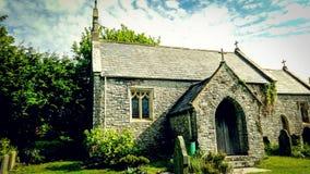 Церковь около Кардиффа, Уэльса Стоковые Изображения