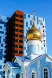 Церковь от имени значка Казани матери бога в Екатеринбурге Стоковая Фотография