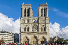 Церковь Париж Франция собора Нотр-Дам Стоковое Изображение RF