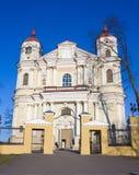 церковь Паыль peter vilnius Стоковая Фотография