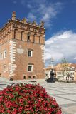 церковь перекрестная готская пошущенная над Польша визирует свод Старый городок в Sandomierz Стоковые Фото