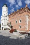 церковь перекрестная готская пошущенная над Польша визирует свод Старый городок в Sandomierz Стоковое фото RF