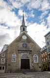 Церковь побед des Нотр-Дам - Квебек (город), Квебек, Канада Стоковое Изображение RF
