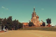 церковь правоверная Россия Стоковое Изображение