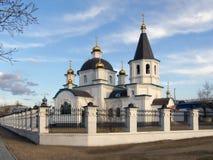 церковь правоверная Церковь рождества Христоса Улан-Удэ bur Стоковое фото RF