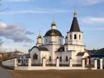церковь правоверная Церковь рождества Христоса Улан-Удэ bur Стоковое Фото