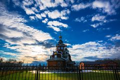 церковь правоверная Berdsk, область Новосибирска, Россия Стоковые Фото