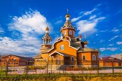 церковь правоверная Berdsk, область Новосибирска, Россия Стоковые Изображения