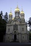 церковь правоверный русский wiesbaden Стоковая Фотография