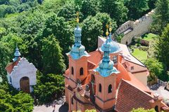 Церковь Праги St Laurence на Petrin стоковые фото
