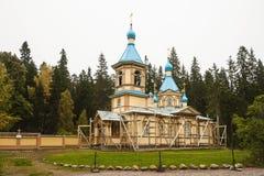 Церковь предположения благословленное девственного в монастыре Gethsemane монастыря Valaam, острова Valaam стоковое фото