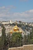 церковь придает куполообразную форму: золото Иерусалим пышный Стоковые Изображения