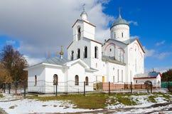 Церковь принца Александра Nevsky St, ландшафта весны, Gomel, Стоковое Изображение