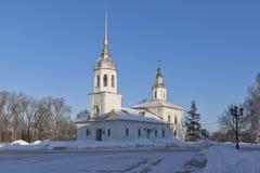 Церковь принца Александра Nevsky St в городе Vologda Стоковые Фото