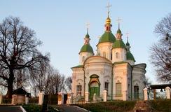 церковь придает куполообразную форму: зеленое правоверное Стоковые Изображения RF