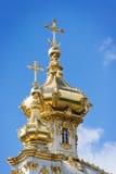 церковь придает куполообразную форму: золотистое правоверное Стоковые Изображения
