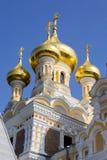 церковь придает куполообразную форму: золотистое правоверное Стоковое Изображение RF