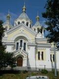 церковь придает куполообразную форму: золотистое Стоковое фото RF