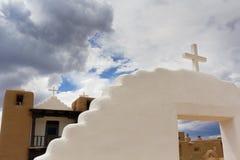 Церковь Пуэбло Taos Стоковые Изображения RF