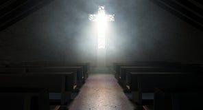 Церковь распятия витража Стоковое фото RF