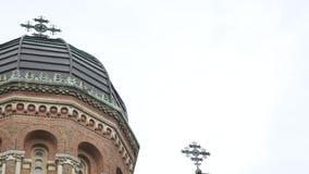 Церковь резиденции Bukovinian и далматинских столичных жителей, теперь части университета Chernivtsi Yuriy Fedkovych видеоматериал