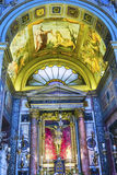 Церковь Рим Италия базилики алтара Corso al Chiesa San Marcello часовни Стоковое Изображение
