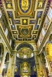 Церковь Рим Италия базилики алтара Corso al Chiesa San Marcello Стоковые Фото