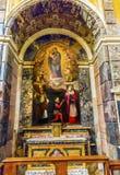 Церковь Рим Италия побежки Santa Maria Della алтара Madonna Mary Стоковое фото RF