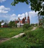 Церковь рождества девой марии в деревне Vidzy Стоковое фото RF