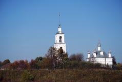 Церковь рождества благословленной девственницы в деревне старое поселение Pereslavl-Zalessky Россия стоковые изображения rf