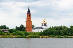 Церковь рождества в деревне Priluki района Uglich, России Стоковые Фото