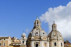 Церковь самого святого имени Mary и Santa Maria di Профессиональных знаний стоковое фото