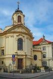 Церковь самого священного сердца нашего лорда и монастырь Ursuline в Kutna Hora, чехии Стоковое Изображение RF