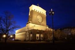 Церковь самого священного сердца нашего лорда, Прага Стоковые Изображения