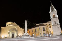 Церковь Санты Софии и своей колокольни на ноче от августа Стоковые Фотографии RF