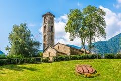 Церковь Санты Coloma в Андорре Стоковое Фото