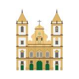 Церковь Сан-Франциско, Сальвадор de иллюстрация вектора Бахи, Бразилии иллюстрация вектора