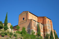 Церковь Сан Domenico, Сиена, Италия Стоковая Фотография